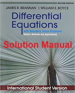 Solution Manual Differential Equation James Brannan, William Boyce