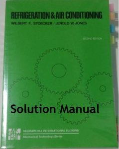 Solution Manual Refrigeration and Air Conditioning Wilbert Stoeckera, Jerold Jones